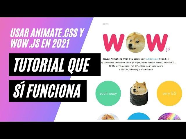 ✔️ Como usar wow.js con Animate.css en 2021 y que sí funcione!