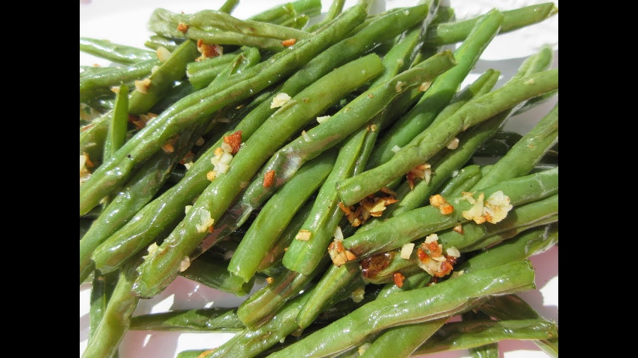 Roasted Green Beans How To Roast Fresh Green Beans Demonstration
