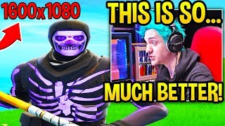 Ninja *SHOCKED* at his IMPROVEMENT Using STRETCHED RES! (NOT SWITCHING BACK!) - Fortnite Moments