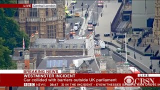 Car crashes into gate of U.K. parliament in London
