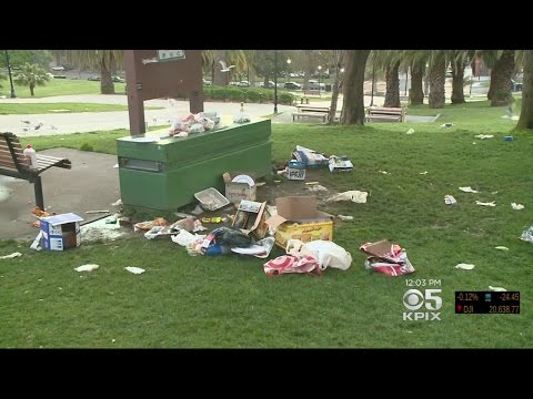 Dolores Park Trashed Again During Warm San Francisco Weekend
