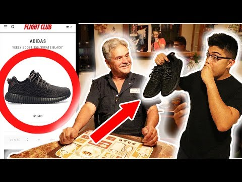 GIVING GRANDPA YEEZYS FOR FATHERS DAY PRANK!! (RETURNED THEM?)