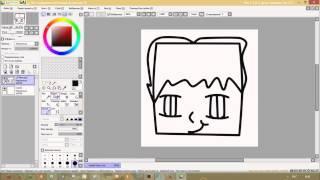 Видео урок как нарисовать арт в Paint tool Sai