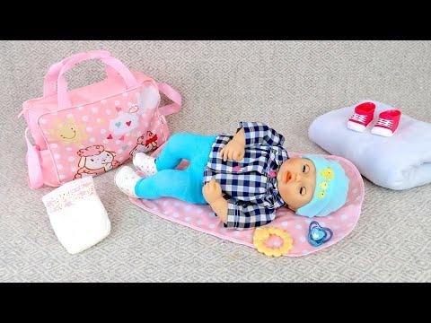 Беби Анабель Собирается На Прогулку в Коляске Мультики для детей Как Мама Играла в Куклы 108мама тв