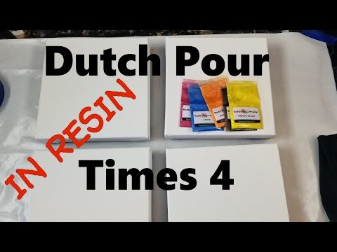 #220 Four Resin Dutch Pours | Resin Pouring | Resin Tutorial | Resin For Beginners