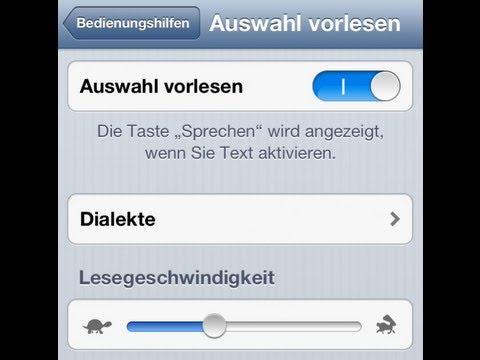 texte vom iphone vorlesen lassen