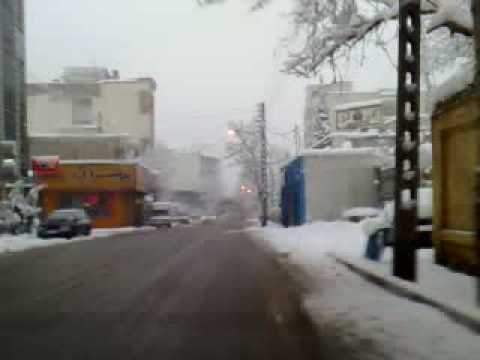 Tehran Winter 2008 Snow Tajrish To Zaferaniye To Velenjak