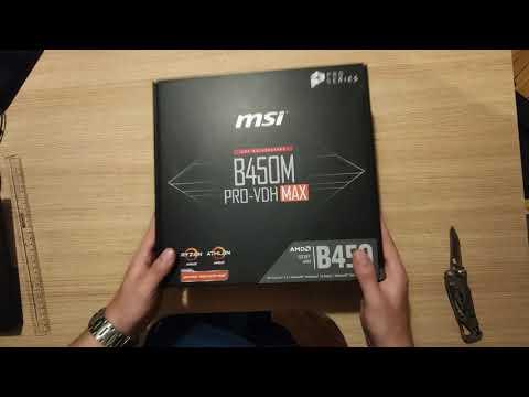 Материнська плата MSI B450M PRO-VDH MAX (sAM4, AMD B450, PCI-Ex16)