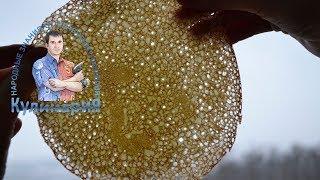 Тонкие блины в дырочку на кефире с кипятком