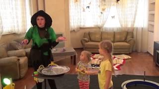 Шоу Мыльных Пузырей часть #1 ⚗ Ведьмочка в гостях у Николь  🔮  ОГРОМНЫЕ ПУЗЫРИ