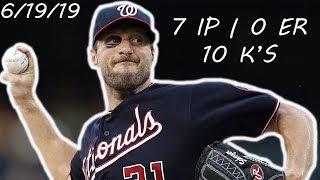 Max Scherzer's 7 Shutout Innings with a Broken Nose & Black Eye   June 19, 2019   2019 MLB Season