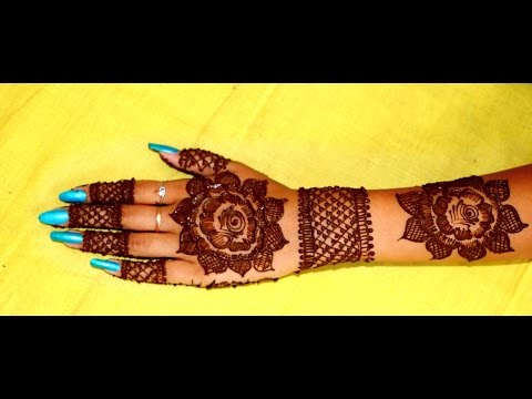 Bold Dark Thick Gulf Style Back Hand Henna Mehndi Design Tutorial