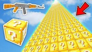 SİLAHLI 999.999.999 METRE ŞANS BLOKLARI KULESİ - Minecraft