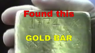 Spanish Gold Bar Found, video footage of the gold bar