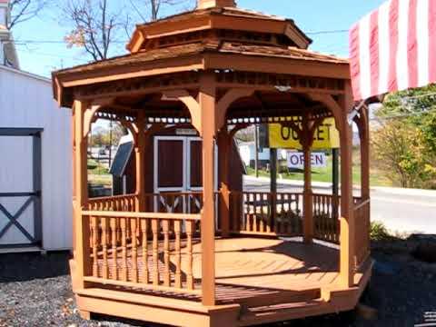 gazebo amish gazebos wooden gazebo kits virginia va. Black Bedroom Furniture Sets. Home Design Ideas