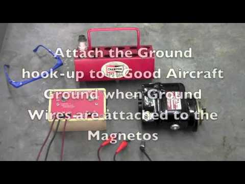 Check the Timing on aircraft Magnetos