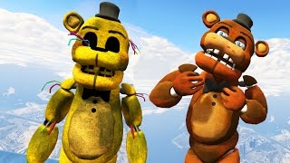 withered freddy golden freddy animatronics in gta 5 gta 5 mods fnaf funny moments