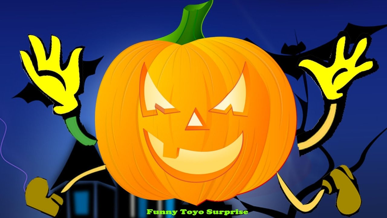 cartoon childrens halloween night song nursery rhimes skeletons ghost monster vampire toyo surprise youtube - Halloween Youtube Kids