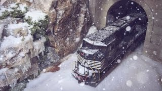 Model Trains In Snow - HO Scale (Realistic Snow Scene)