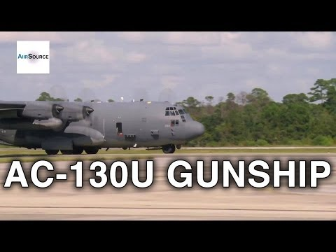 AC-130U Gunship Aerial Gunner - Preflight, Ammo Upload, Live Fire