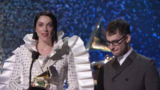St Vincent & Jack Antonoff Win Best Rock Song | 2019 GRAMMYs Acceptance Speech