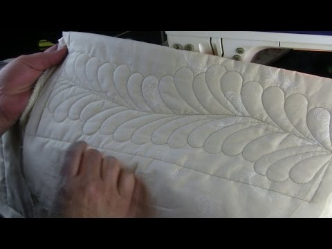 Quilting Feathers on a Domestic Machine with templates