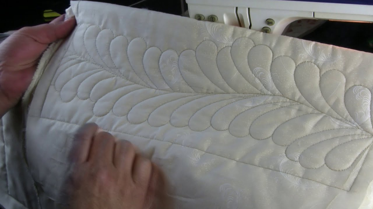 Quilting Feathers on a Domestic Machine with templates - YouTube : domestic machine quilting - Adamdwight.com