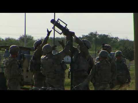 US Army builds encampment at Texas/Mexico border