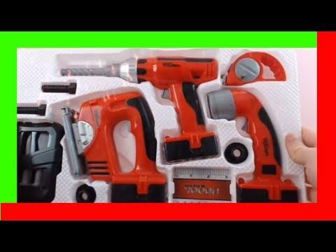 toy-tool-set-tool-box-kid-videos-reviews-family-fun-bosch-black-and-decker-toy-tools-set