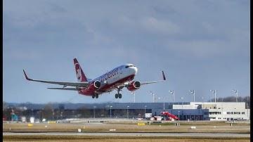 """An- und Abflug am Flughafen München """"Franz Josef Strauß"""" - Airport Munich"""