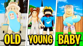 OLD to LOVE to BIRTH in Roblox BROOKHAVEN RP!! (Roblox Story)
