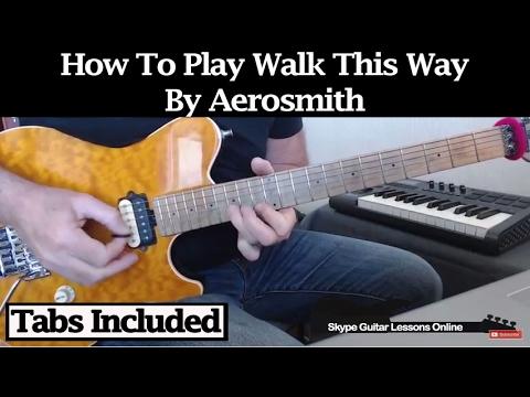 How To Play Walk This Way by Aerosmith -  Rhythm Parts