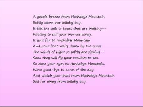 hushabye mountain - chitty chitty bang bang. my version, with lyrics.