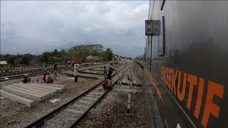 Geoffs Rail View Indonesia :  Purwokerto to Kebumen 3 of 5  real time speed