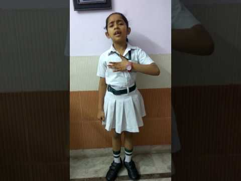 Hasya kavita for competition(won first prize in class 3 competition)