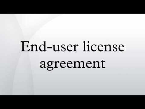 End-user license agreement