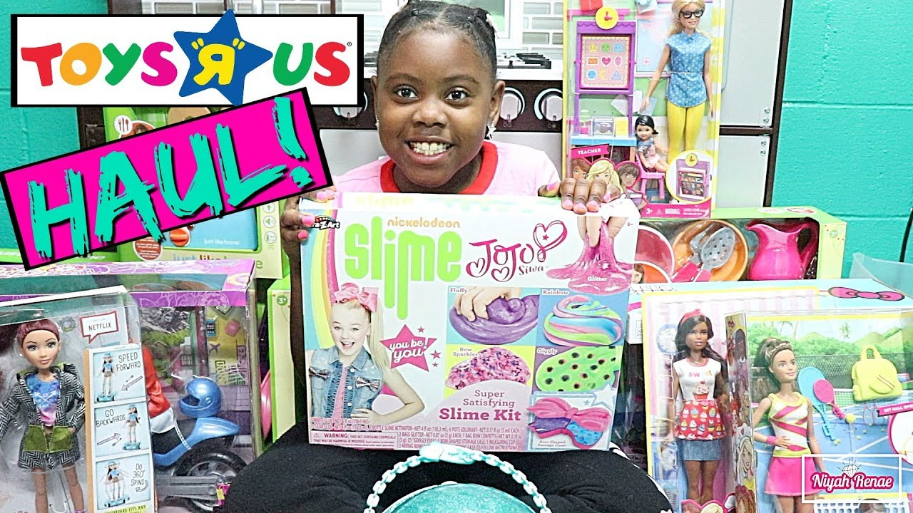 Huge Toys R Us Toy Haul Barbie Jojo Siwa Kitchen Playset Slime L O L Project Mc2 Hello Kitty Youtube