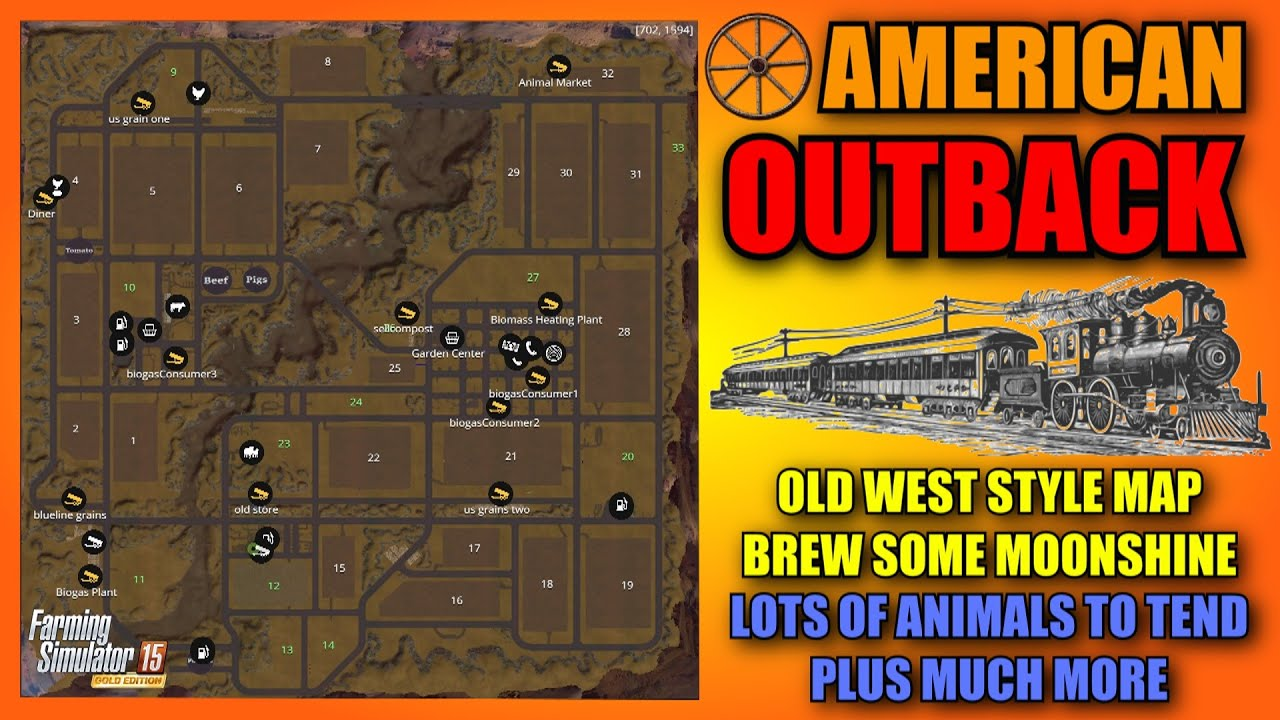 Farming Simulator American Outback V Gold Mod Map Mod - Us map mod fs 17
