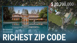 The mansions of Americas most expensive zip code(Atherton, California has topped Forbes' list of the most expensive zip codes in America for three years in a row. The town has some of the most expensive homes ..., 2015-12-30T16:00:00.000Z)