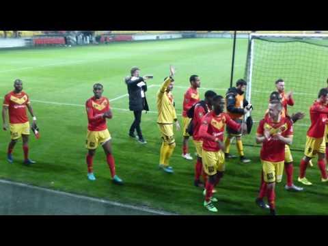 [CFA2] Le Mans FC - Maccabi Paris UJA : 1 - 0 : Communion entre les joueurs et le Virage Sud Le Mans