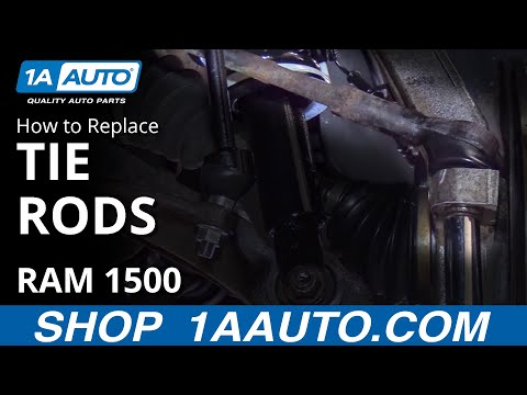 How to Install Replace Tie Rod End 2006-08 Dodge Ram 1500 BUY QUALITY AUTO PARTS AT 1AAUTO.COM
