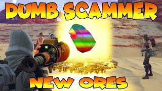 Dumb Scammer Nearly Scams *NEW* ORES!! (Scammer Gets Scammed) Fortnite Save The World