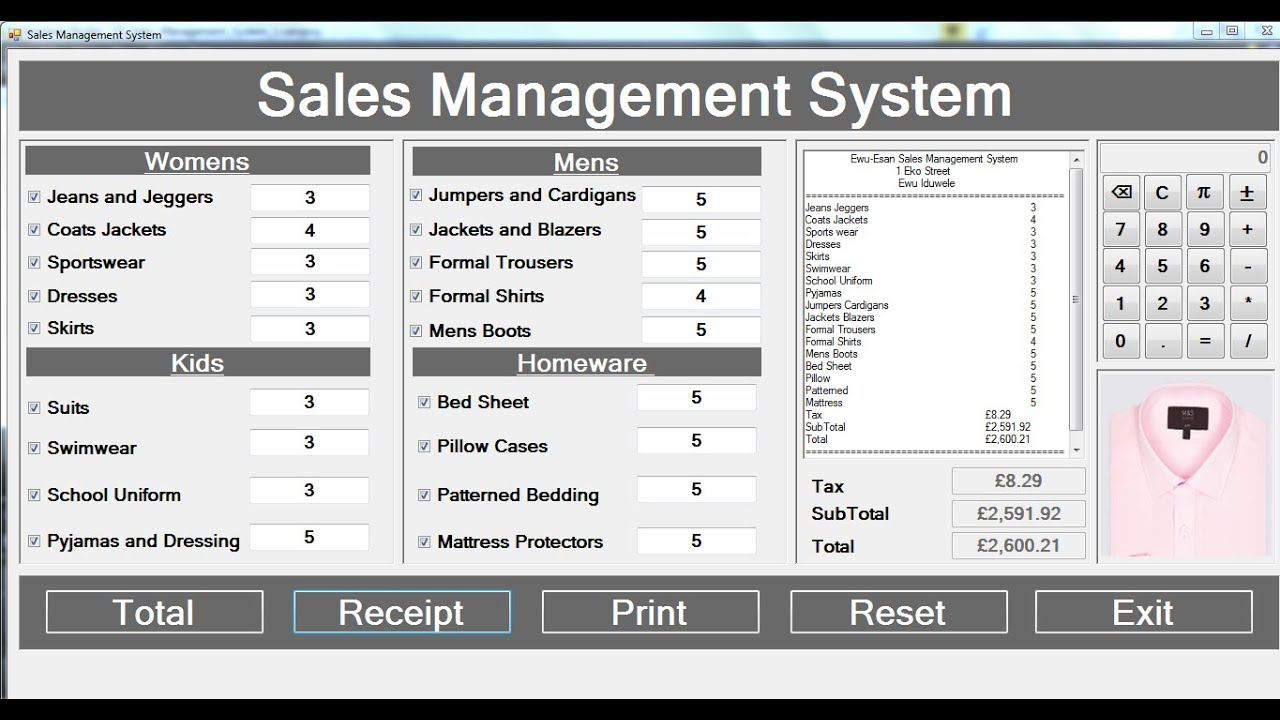 How to Create Sales Management System with Print Control in C# - Full Tutorial