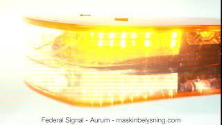 AURUM - LED blixtljusramp ECER65 maskinbelysning.com