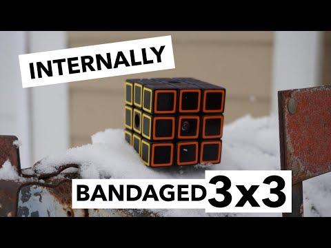 180 Cube – internally bandaged 3x3 [Custom Puzzle]