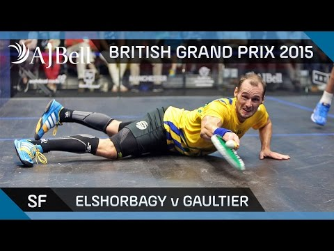 Squash: British Grand Prix Semi-Final Highlights: Elshorbagy v Gaultier