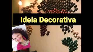 Ideia e dicas de decoração usando cápsulas para café expresso, fácil de fazer e muito criativo