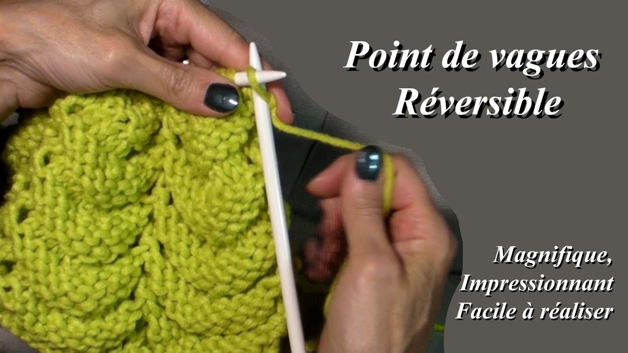 tuto tricot point de vague