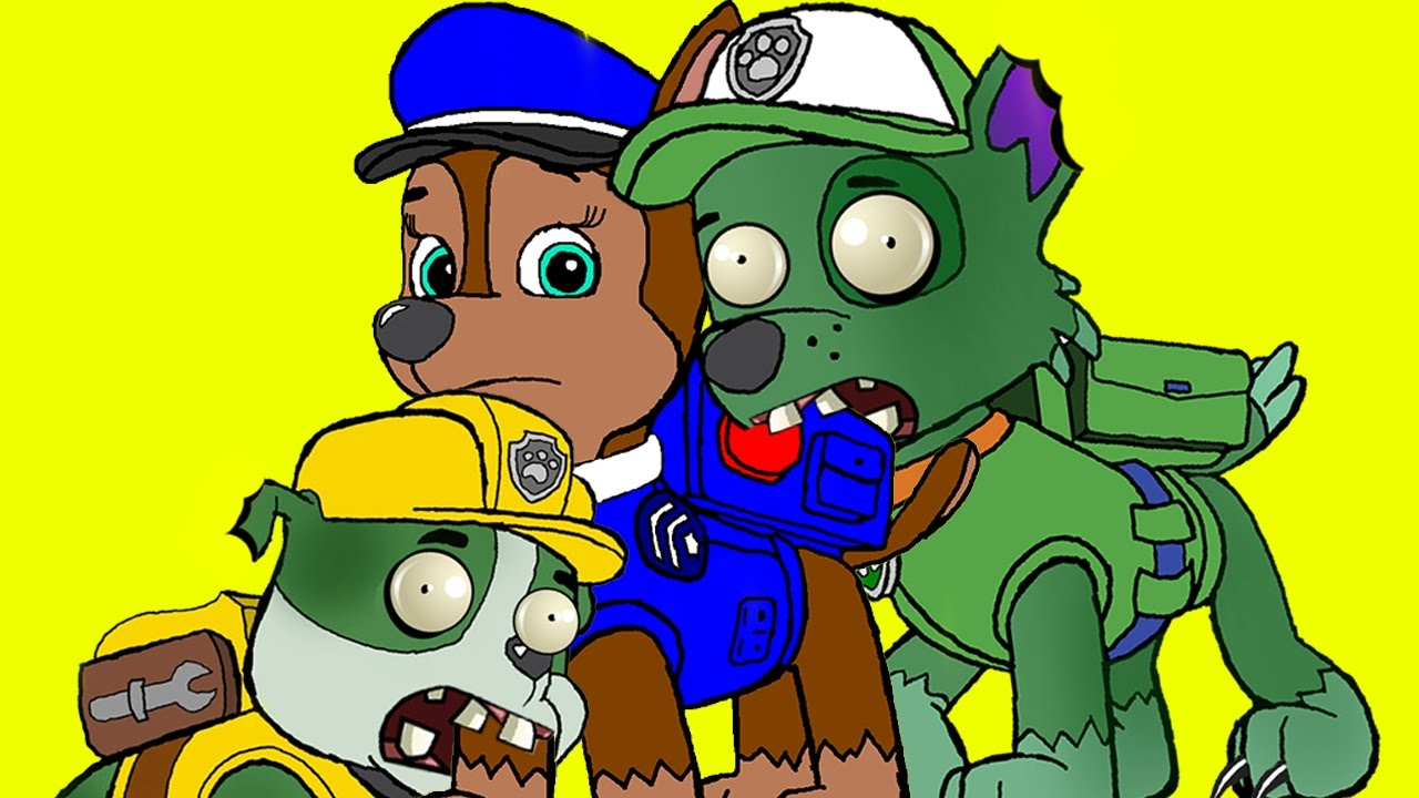 Coloring Pages Paw Patrol Transforms Into ZOMBIE Zombie