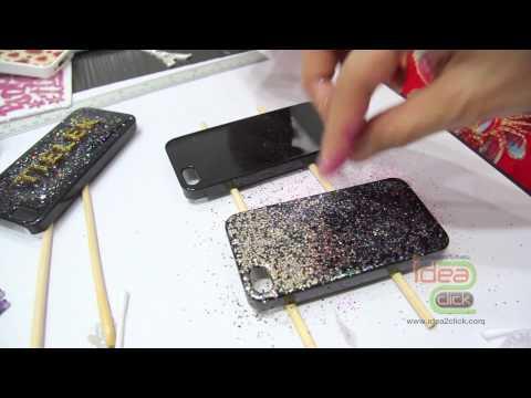 การทำเคสเรซิ่น เคลือบนูน เคสกากเพชร DIY case โดย Idea2Click